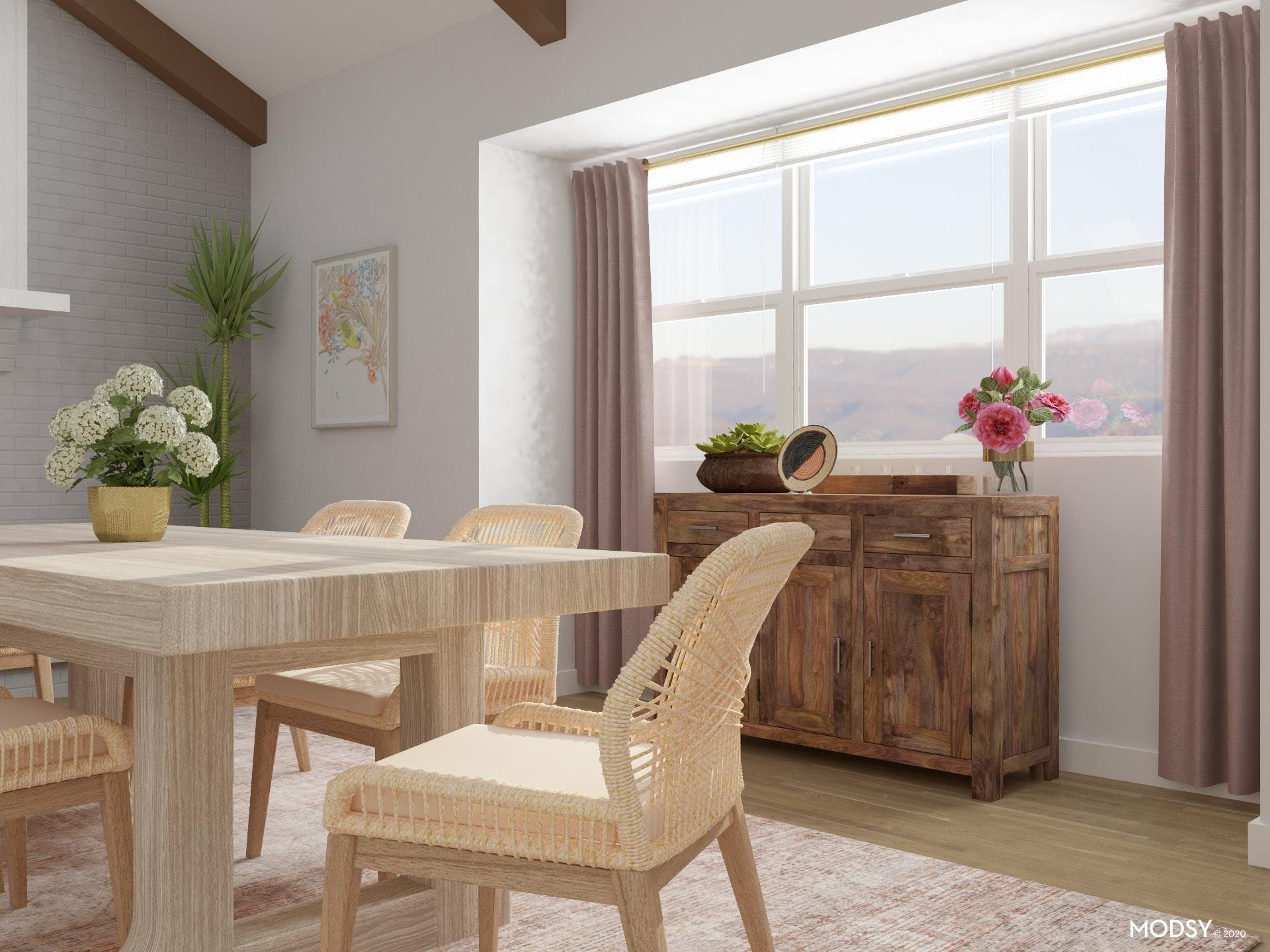 Light Wood Tones: Eclectic Dining Room