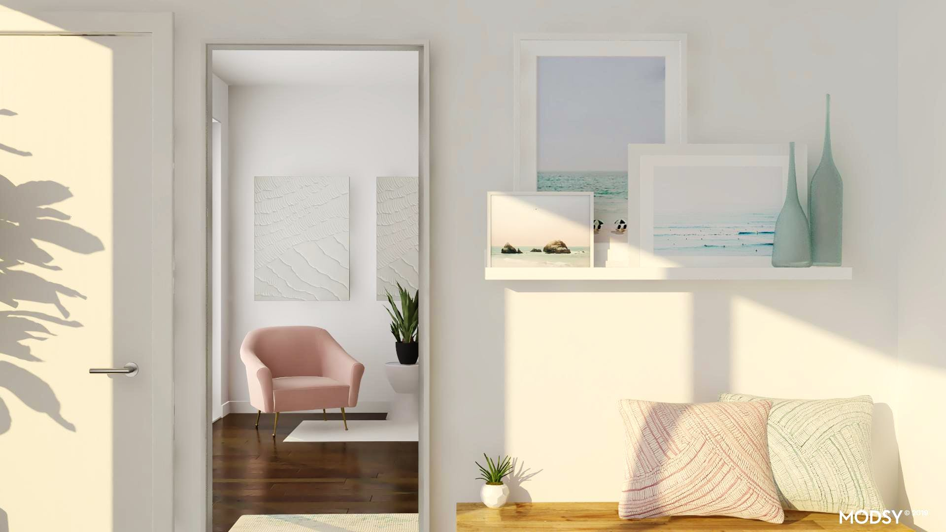 Styling With Pastels For A Light And Modern Entry