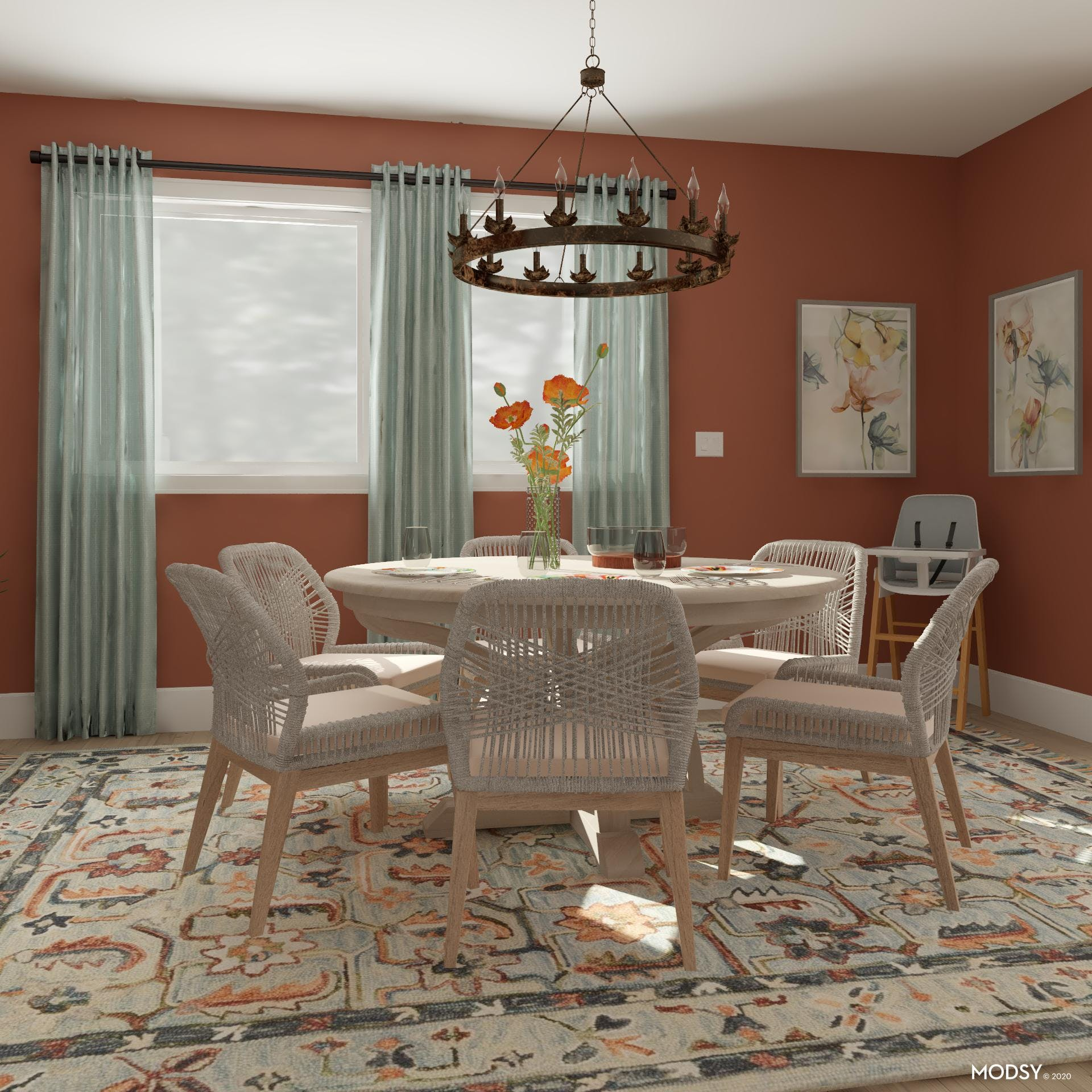 Dining Room: Bright, Rustic And Kid-Friendly
