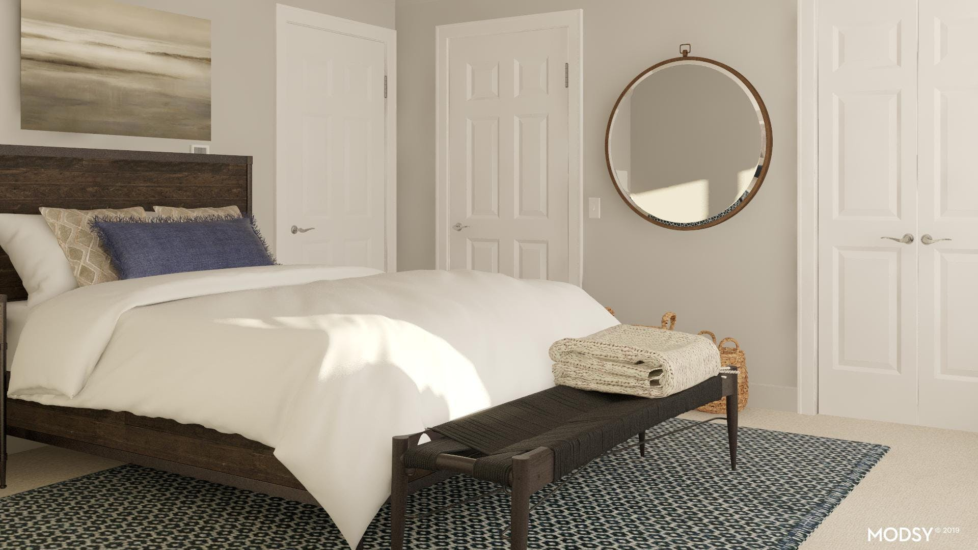 Layering Textures in a Rustic Bedroom