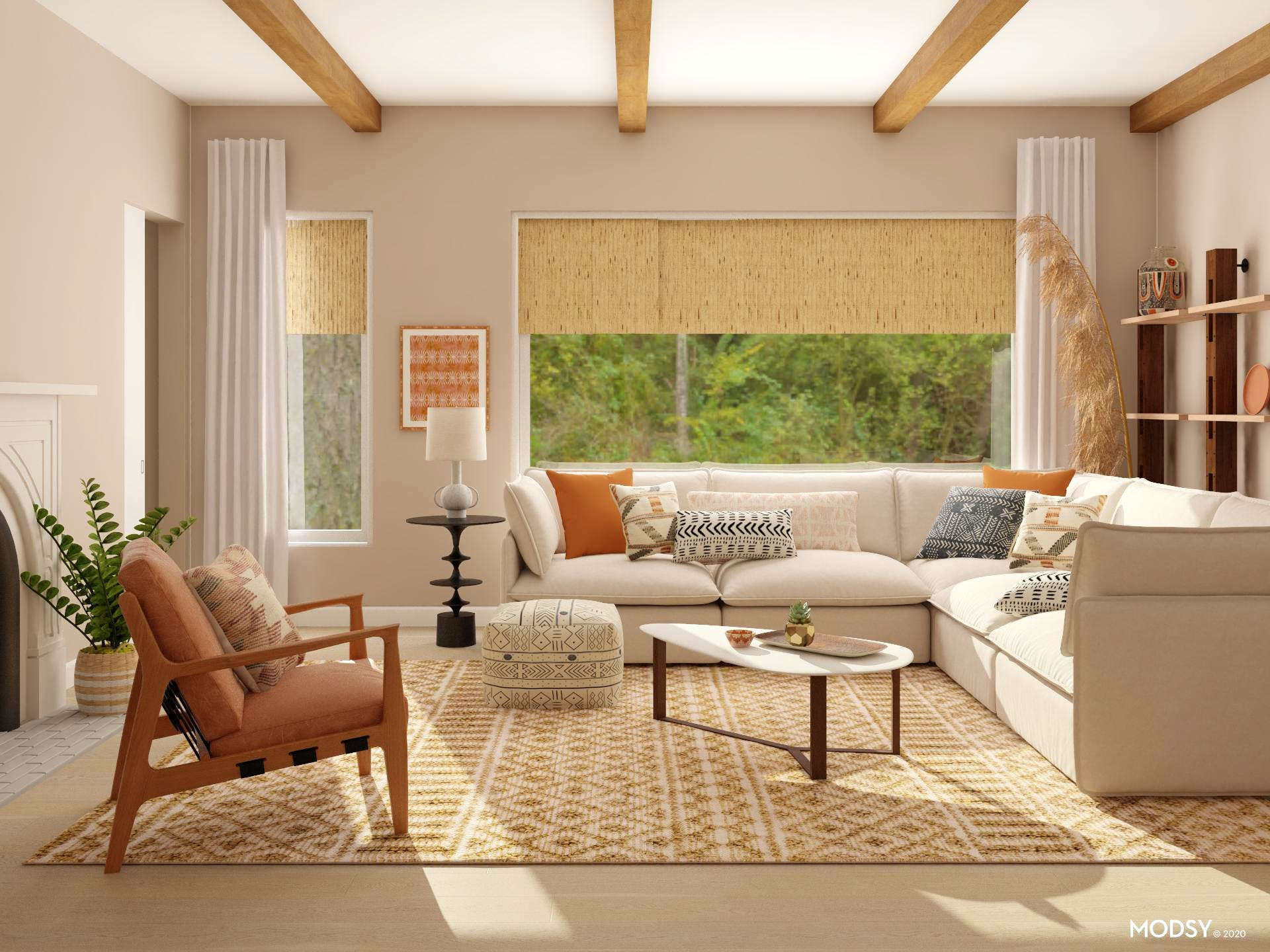 Bring On The Boho: Living Room Design