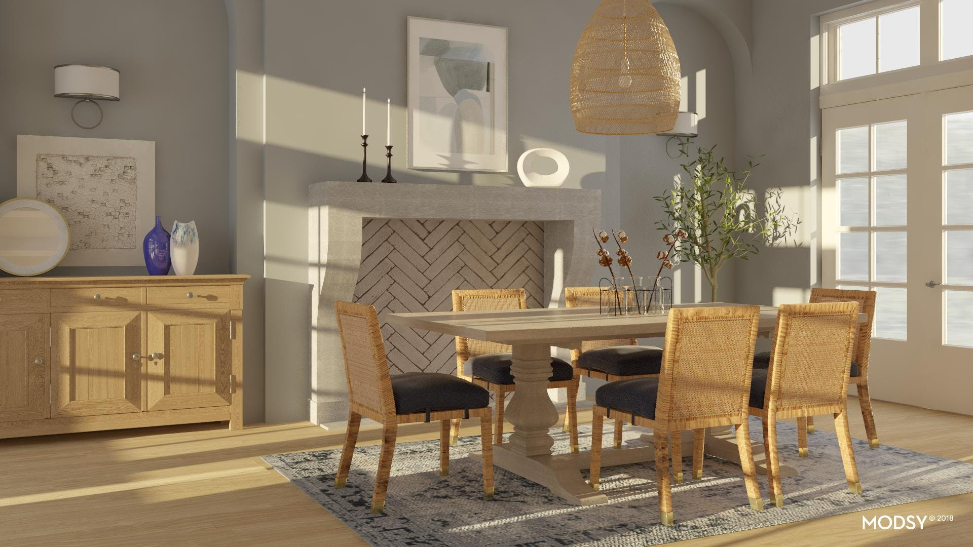 The Classic Naturalist's Dining Room