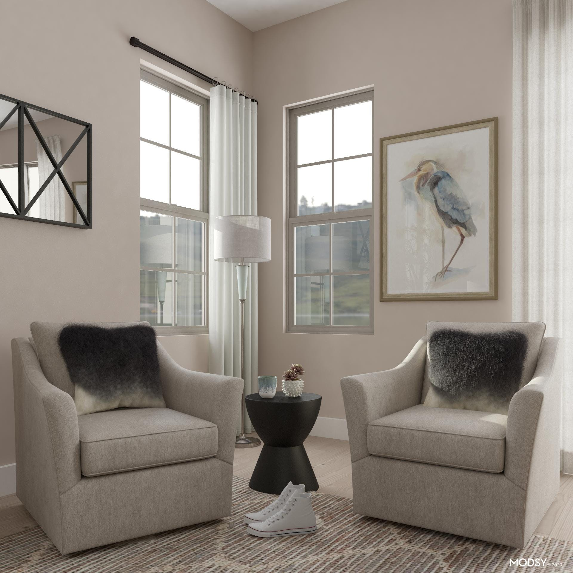 Neutral Traditional Living Room Seating