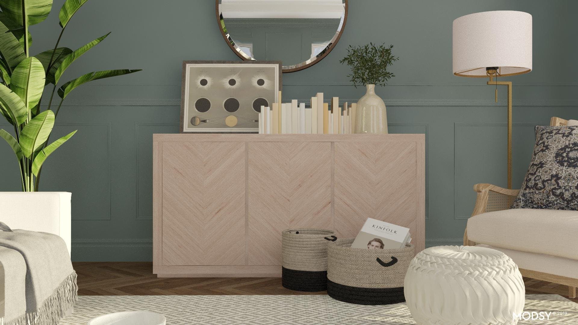 Sophisticated Boho Console Table Styling