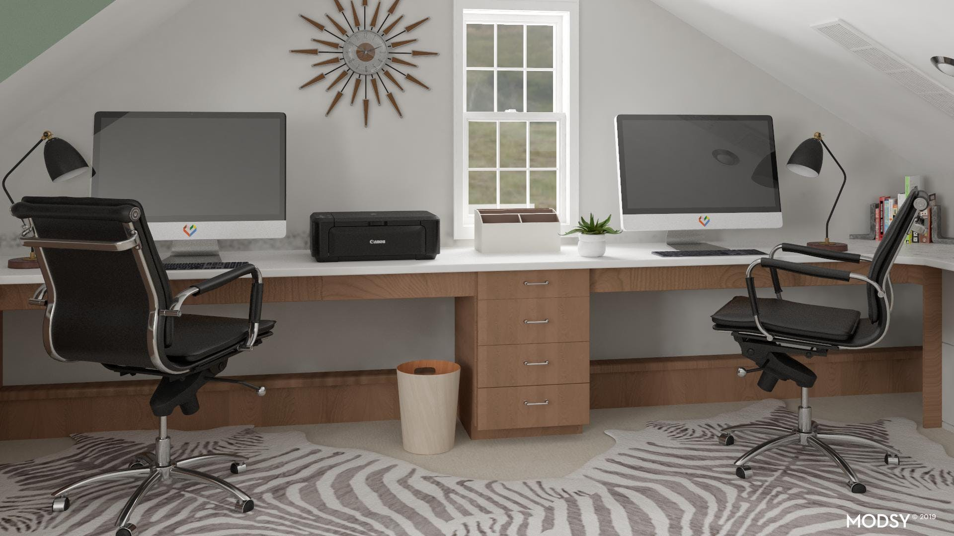 Modern Office With A Wild Side