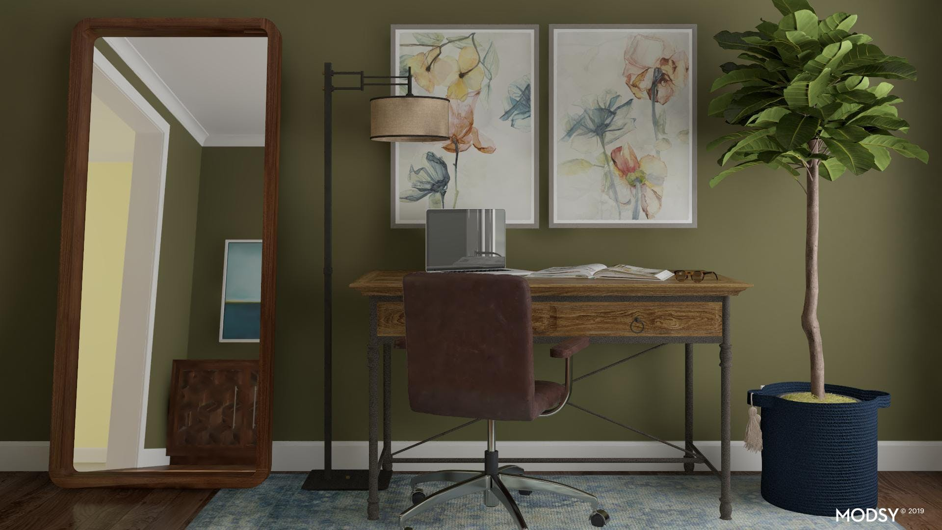 Rich & Rustic Office Space
