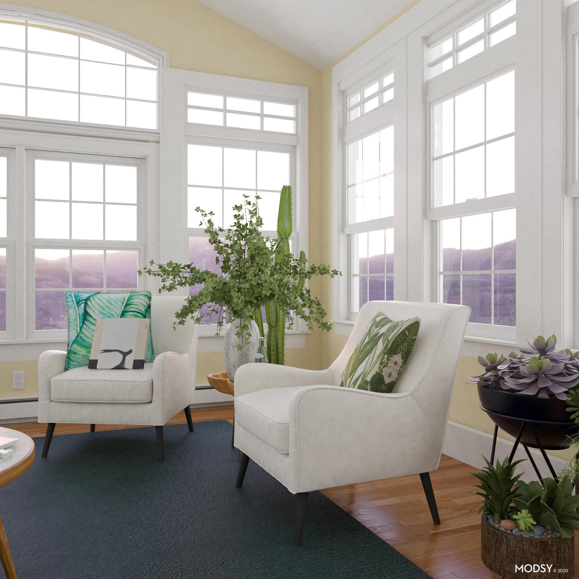 Sitting With Nature: Mid-Century Living Room