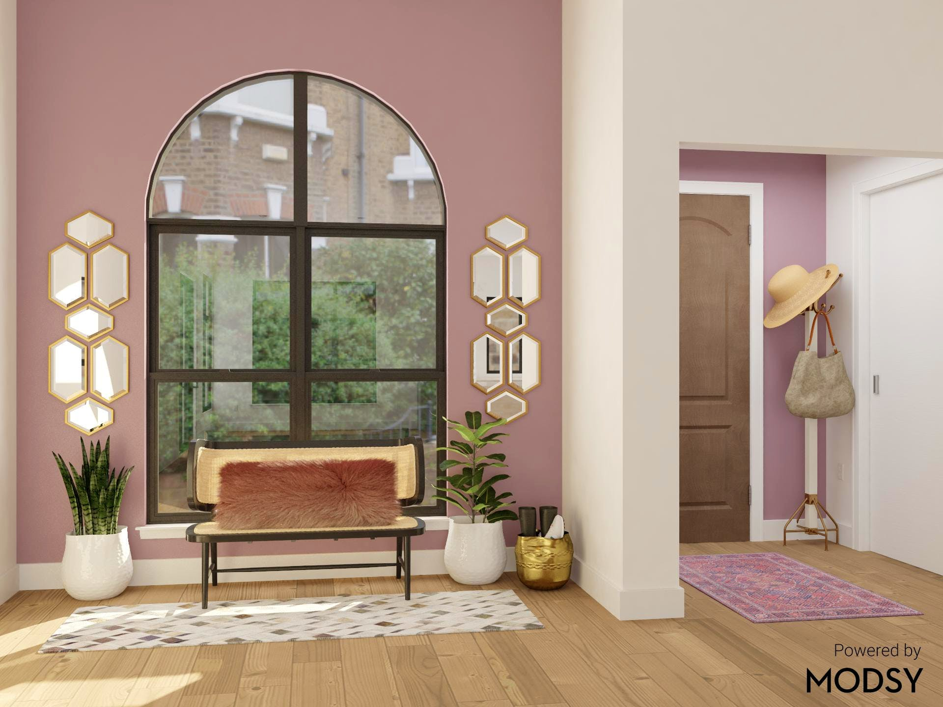 Color Me Purple: Glam Entryway