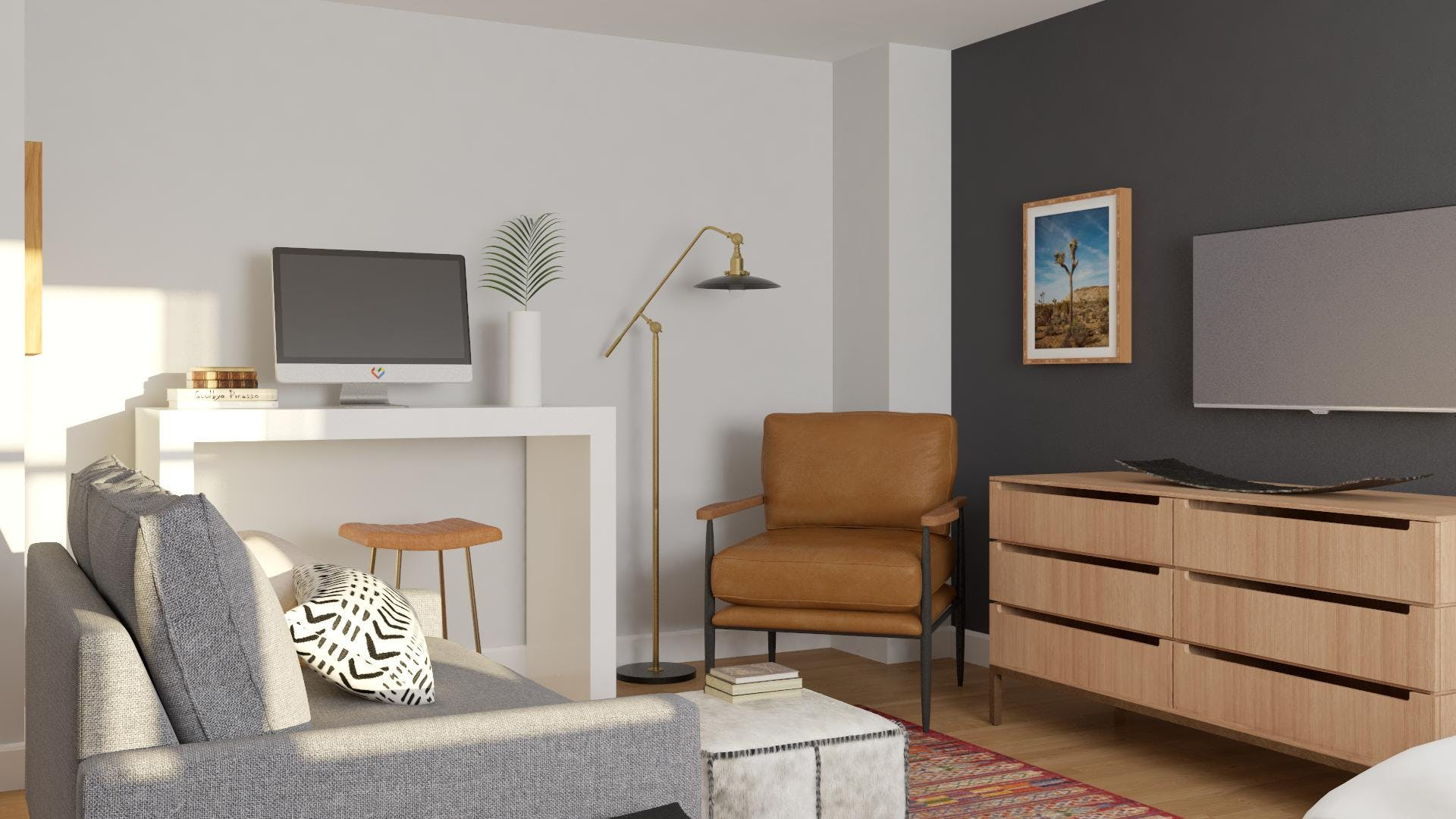 Small Apartment with furniture Pulling Double-Duty