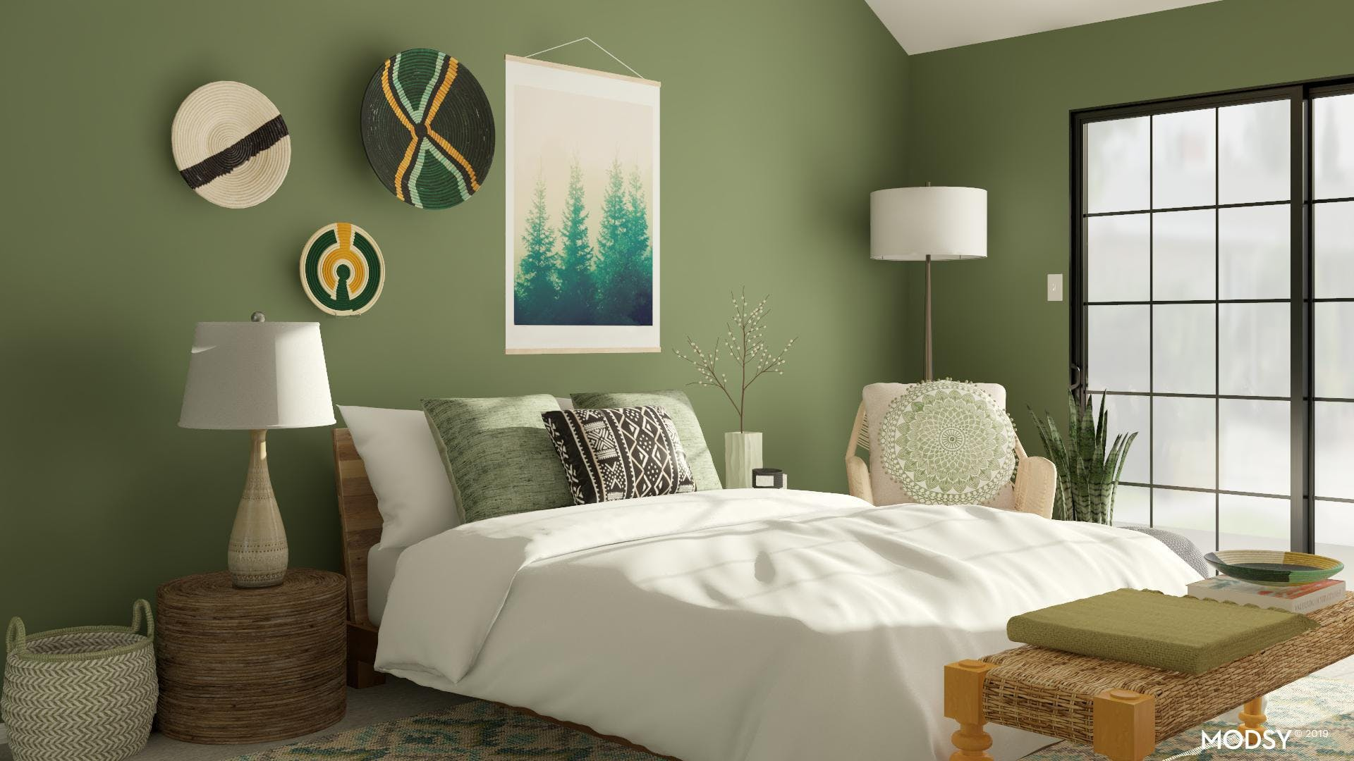 Green Forest Bedroom