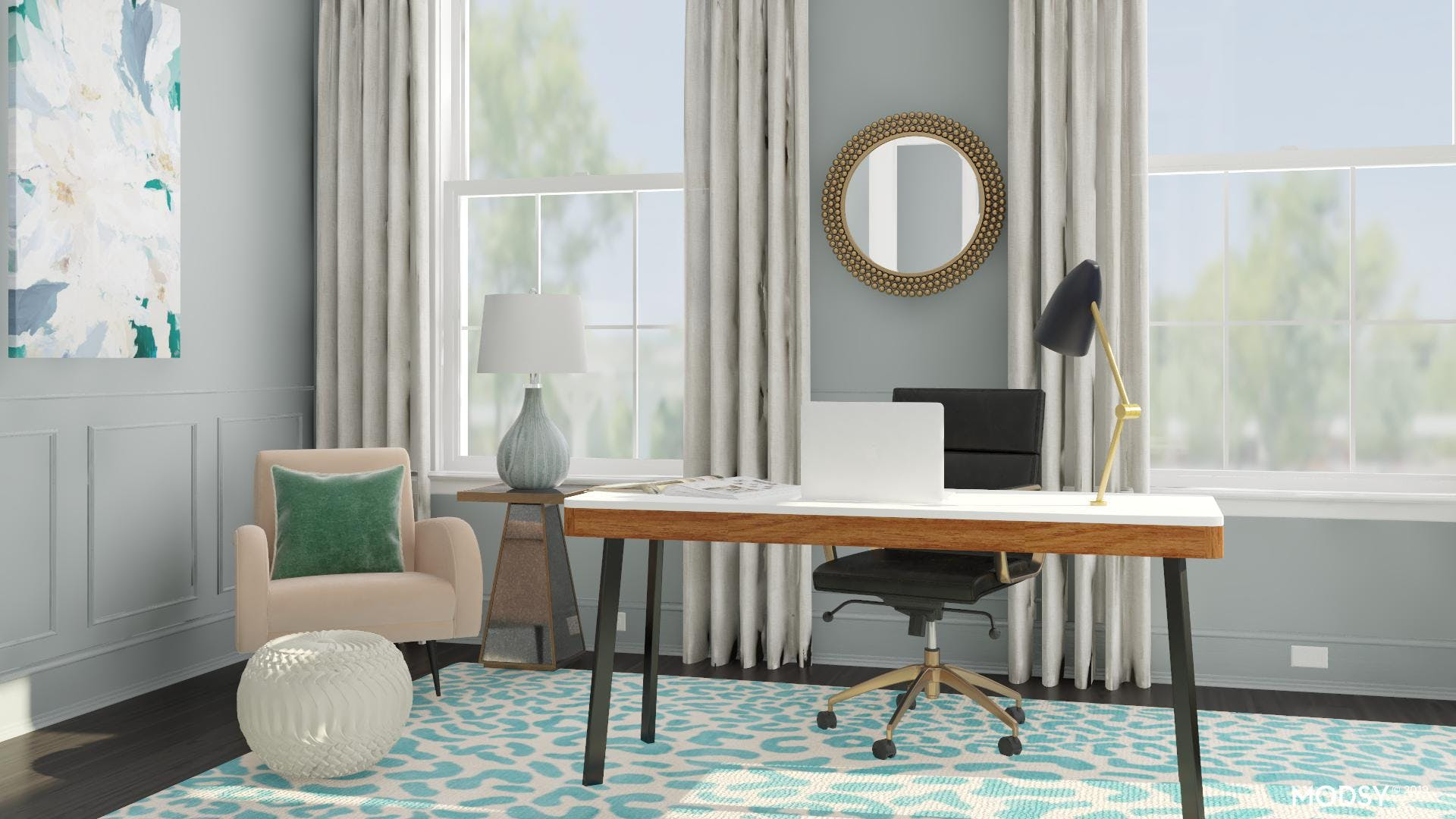 Fresh Office with a Hint of Glam