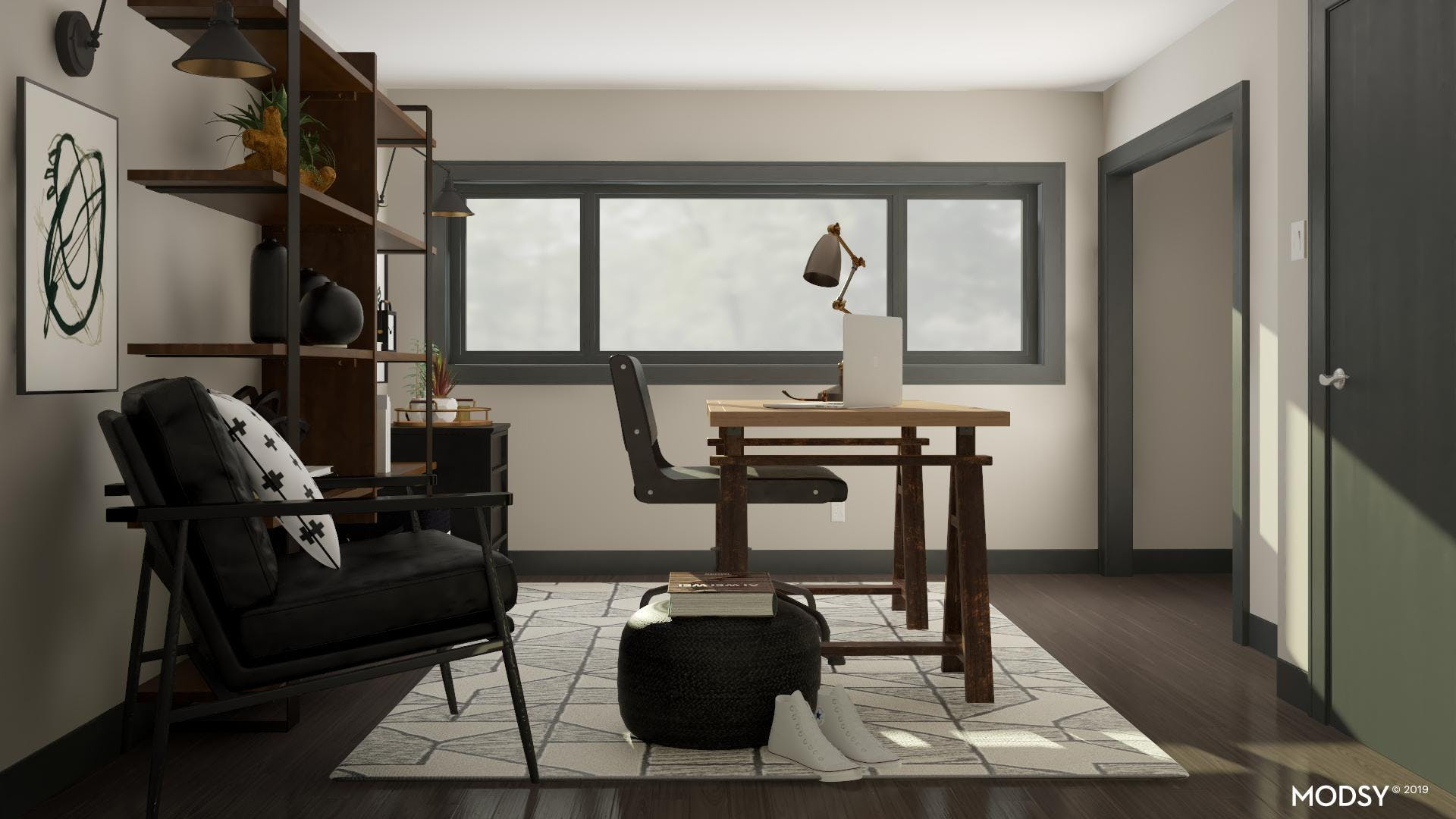 Non-Traditional Black & White Office