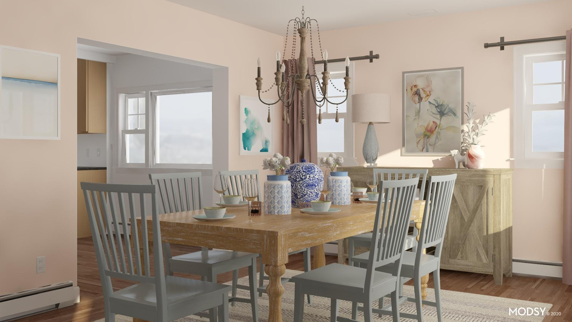 Perfect Pastels Dining Room
