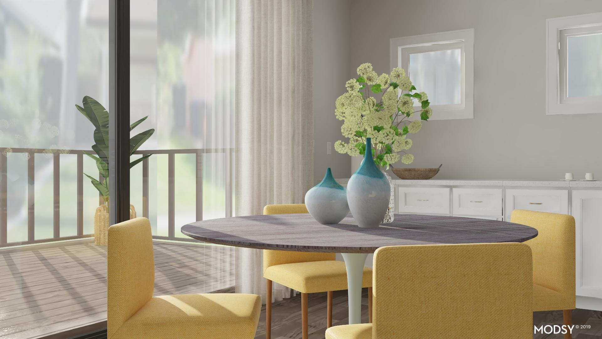 Multicolor But Chic Dining Style