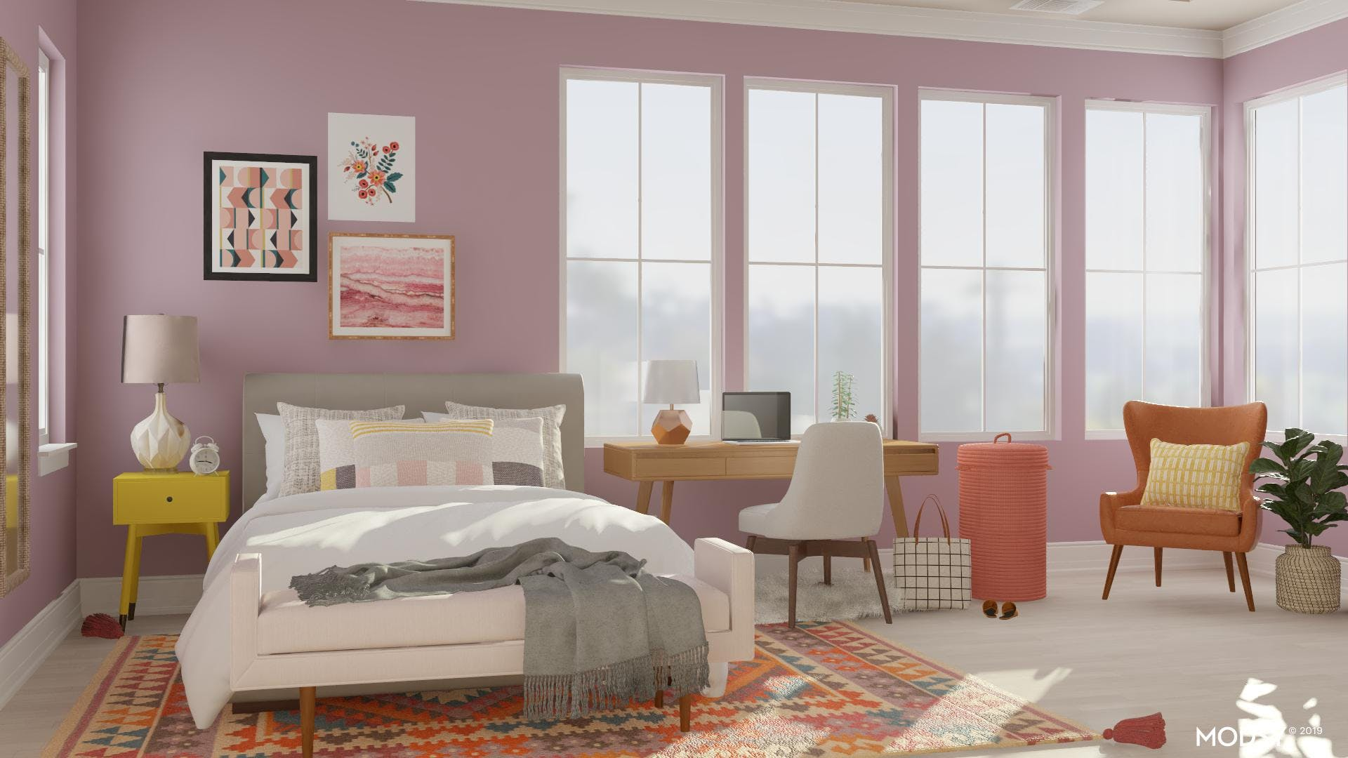 Colorful Bedroom Lounge For A Teen Girl