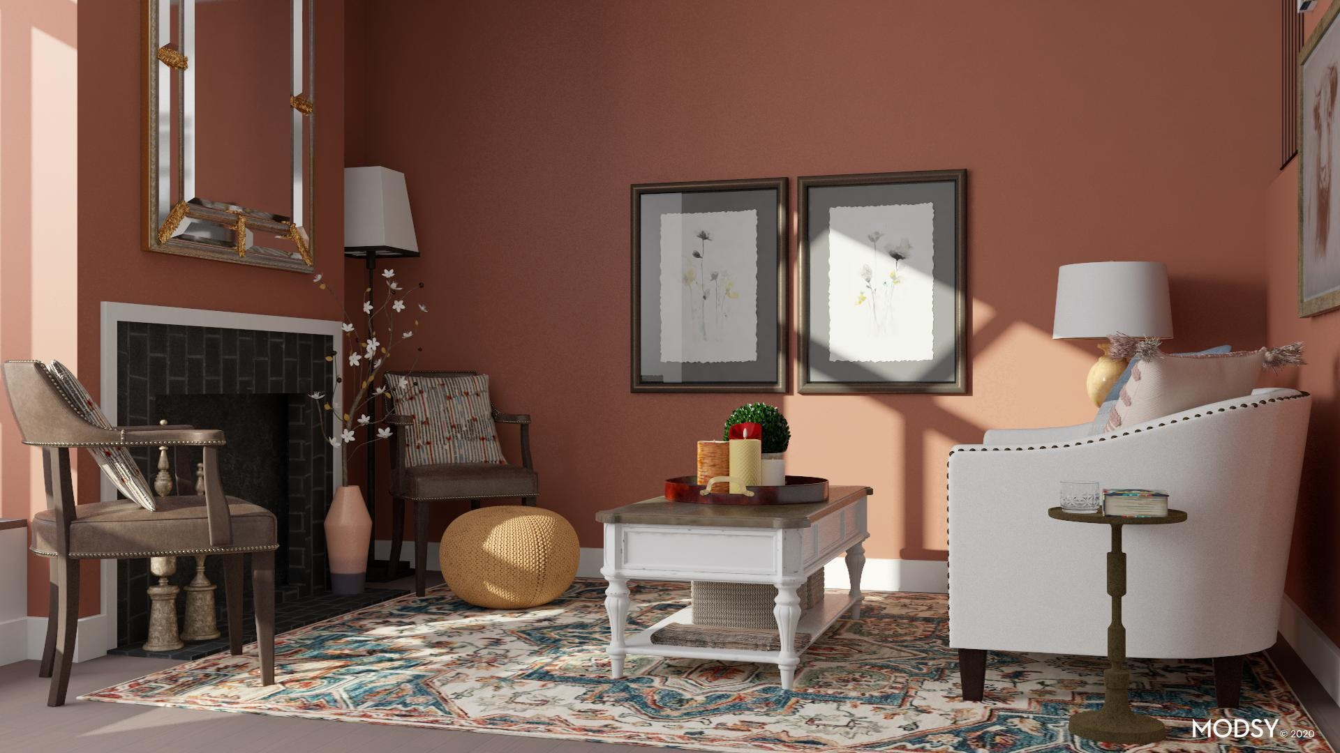 Traditional Sitting Area: Cozy Earth Tones