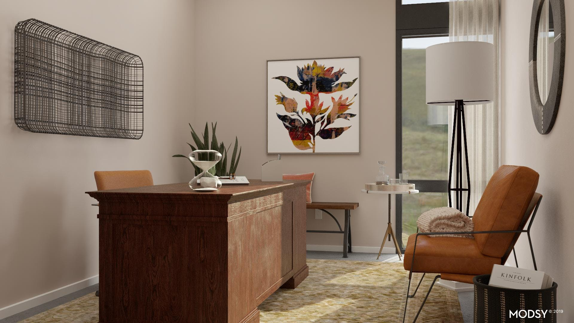 Earth-Toned Industrial Office