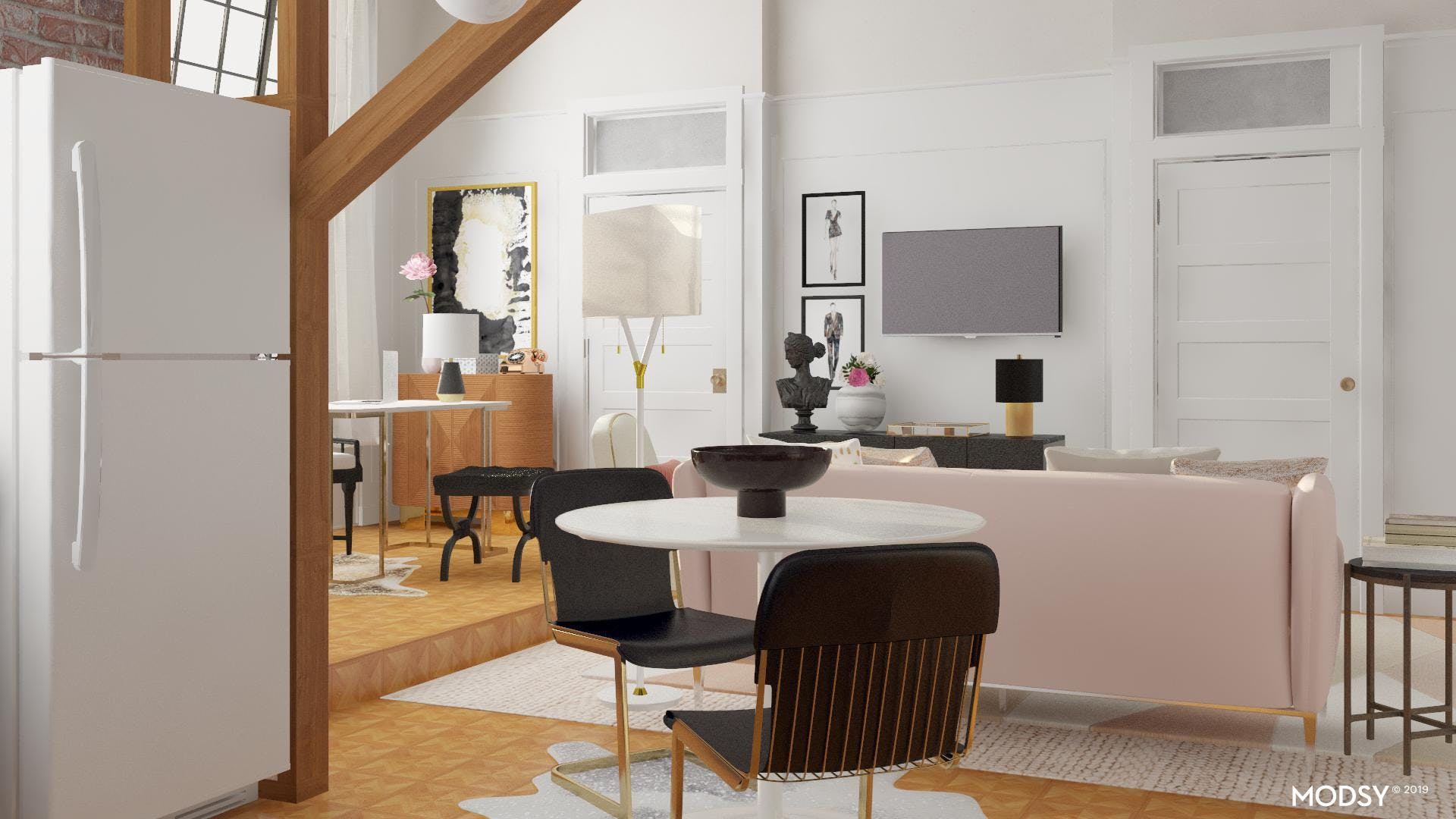 Modern Apartment Design With A Side Of Glam