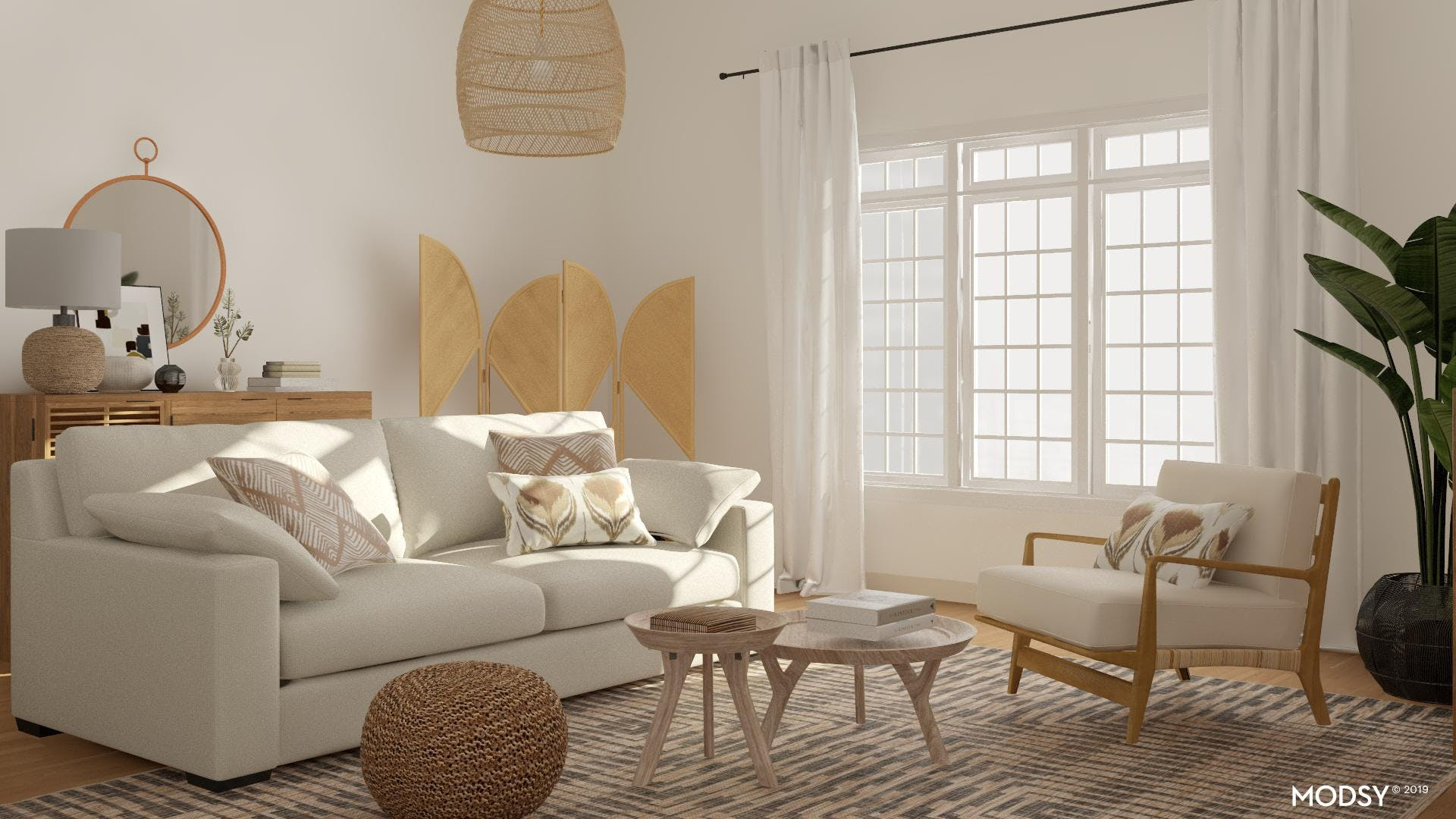 Mixing White Furniture And Natural Textures