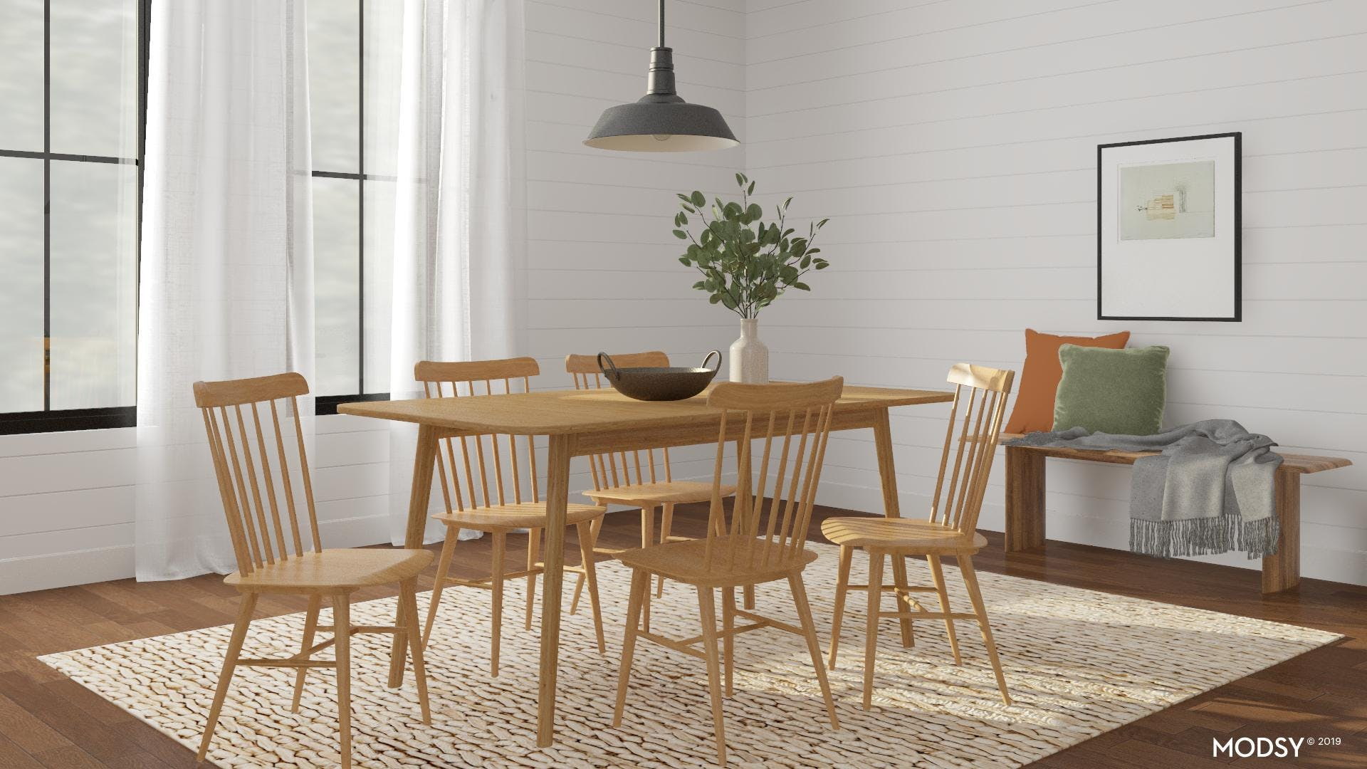 Neutral Dining Room with a Jute Twist!