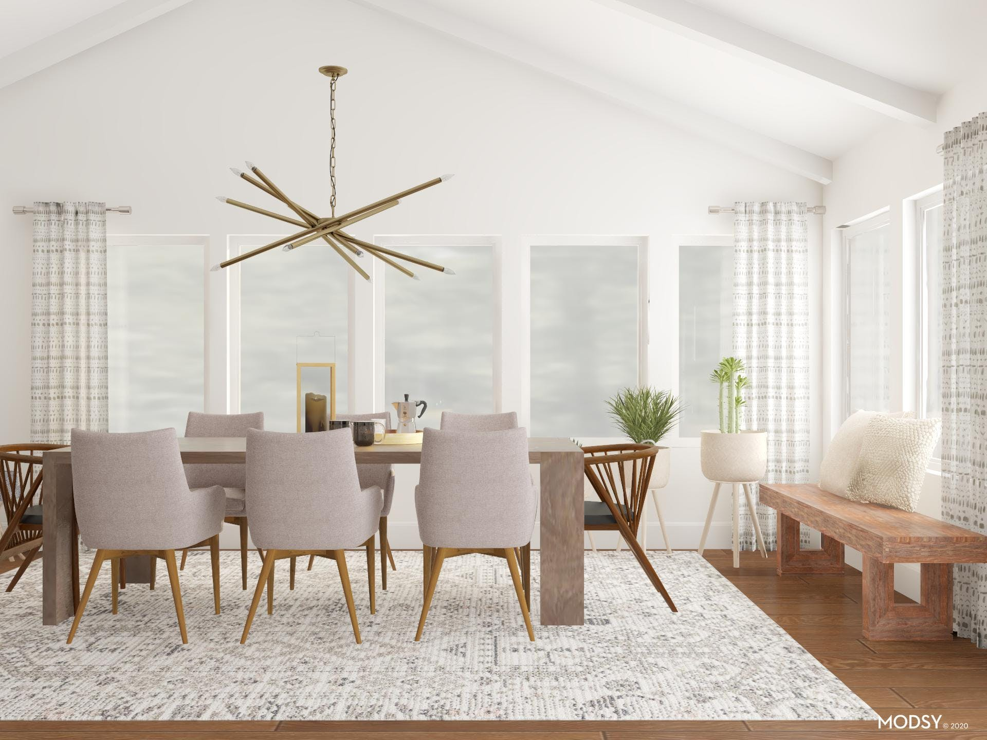 Light And Eclectic: Earth-Tone Dining