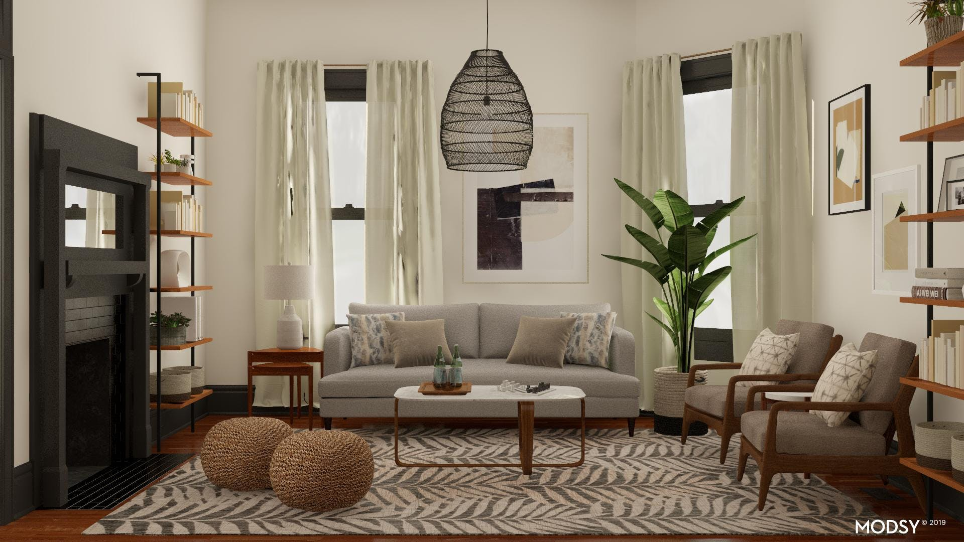 Moody Casual Living Room