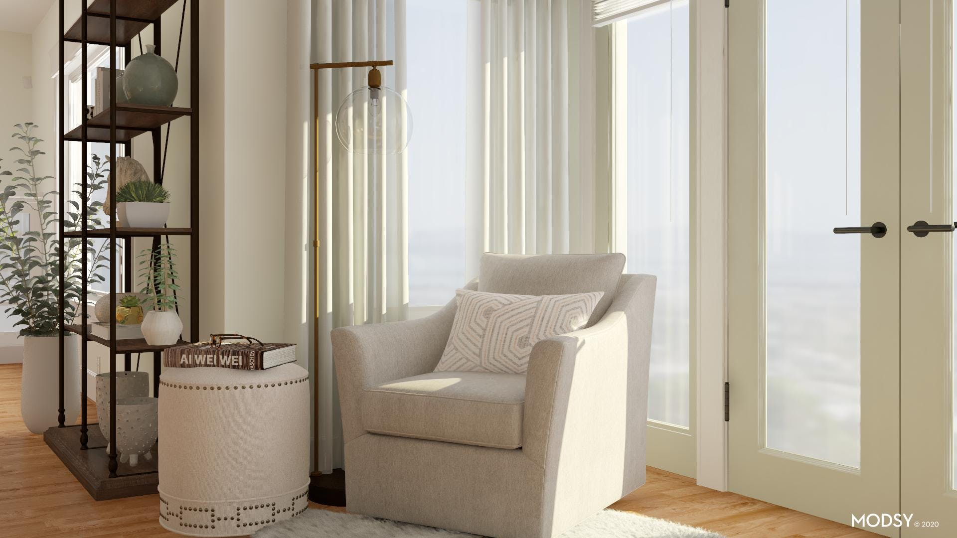 Neutral Coastal Office: Relax And Unwind