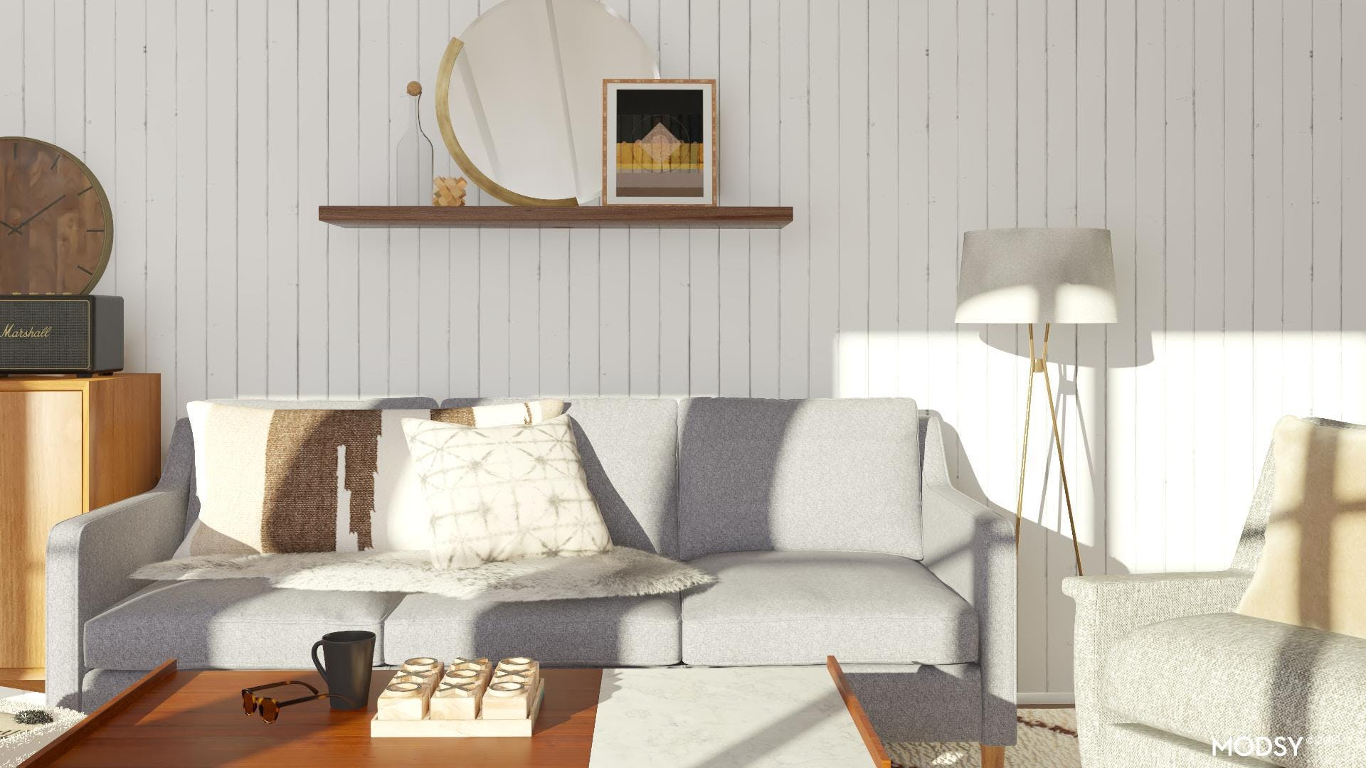 Comfort And Calm: Mid-Century Modern Living Room