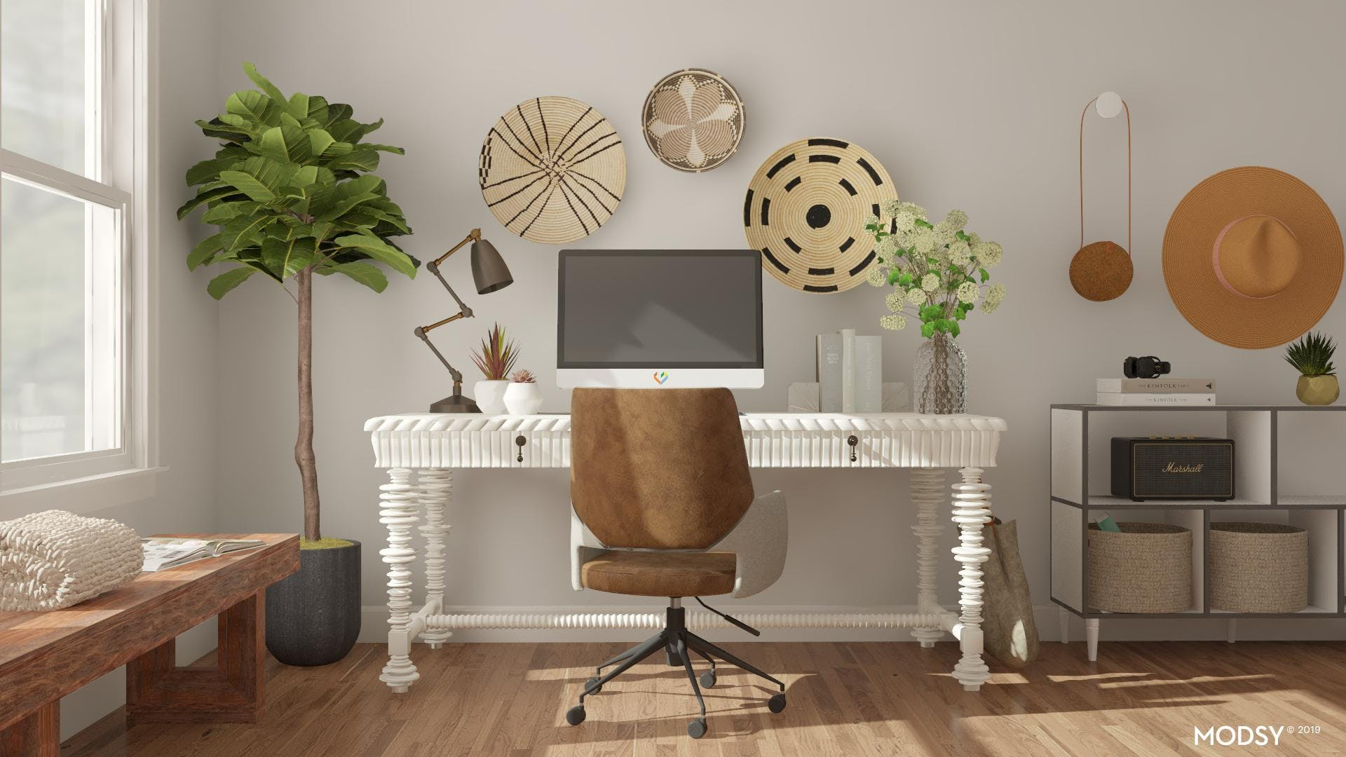 Eclectic Office in Neutral