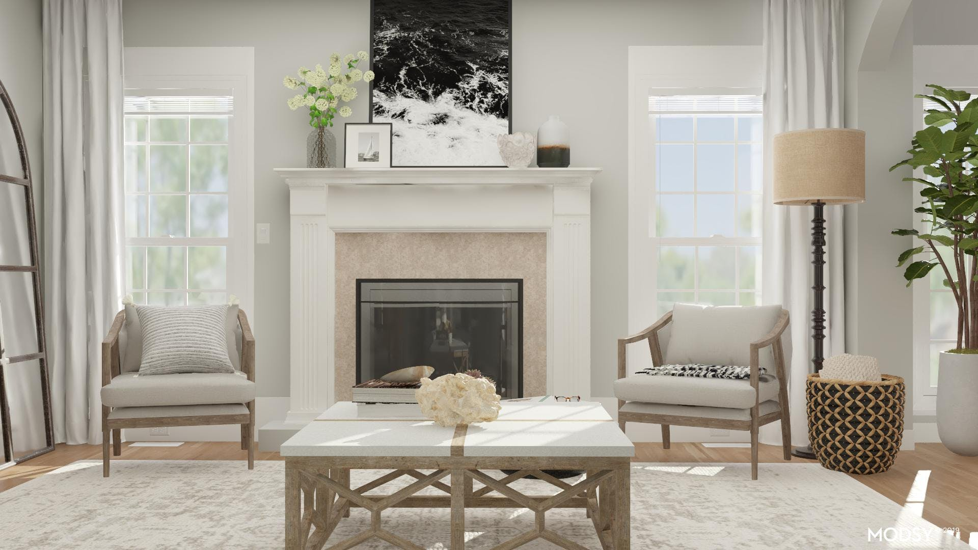 All In The Details: Coastal Living Room