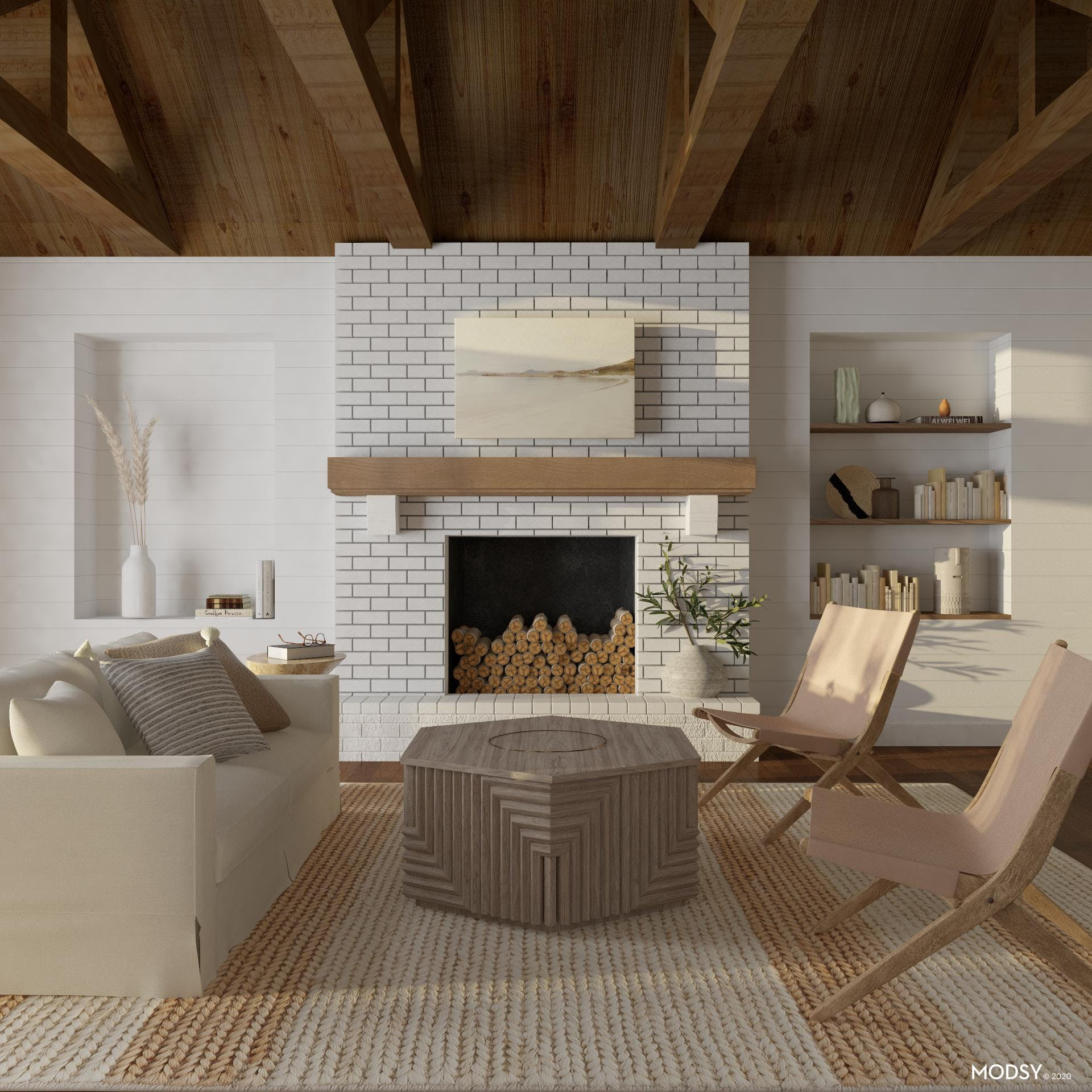 Airy and Relaxing Rustic Contemporary Living Room
