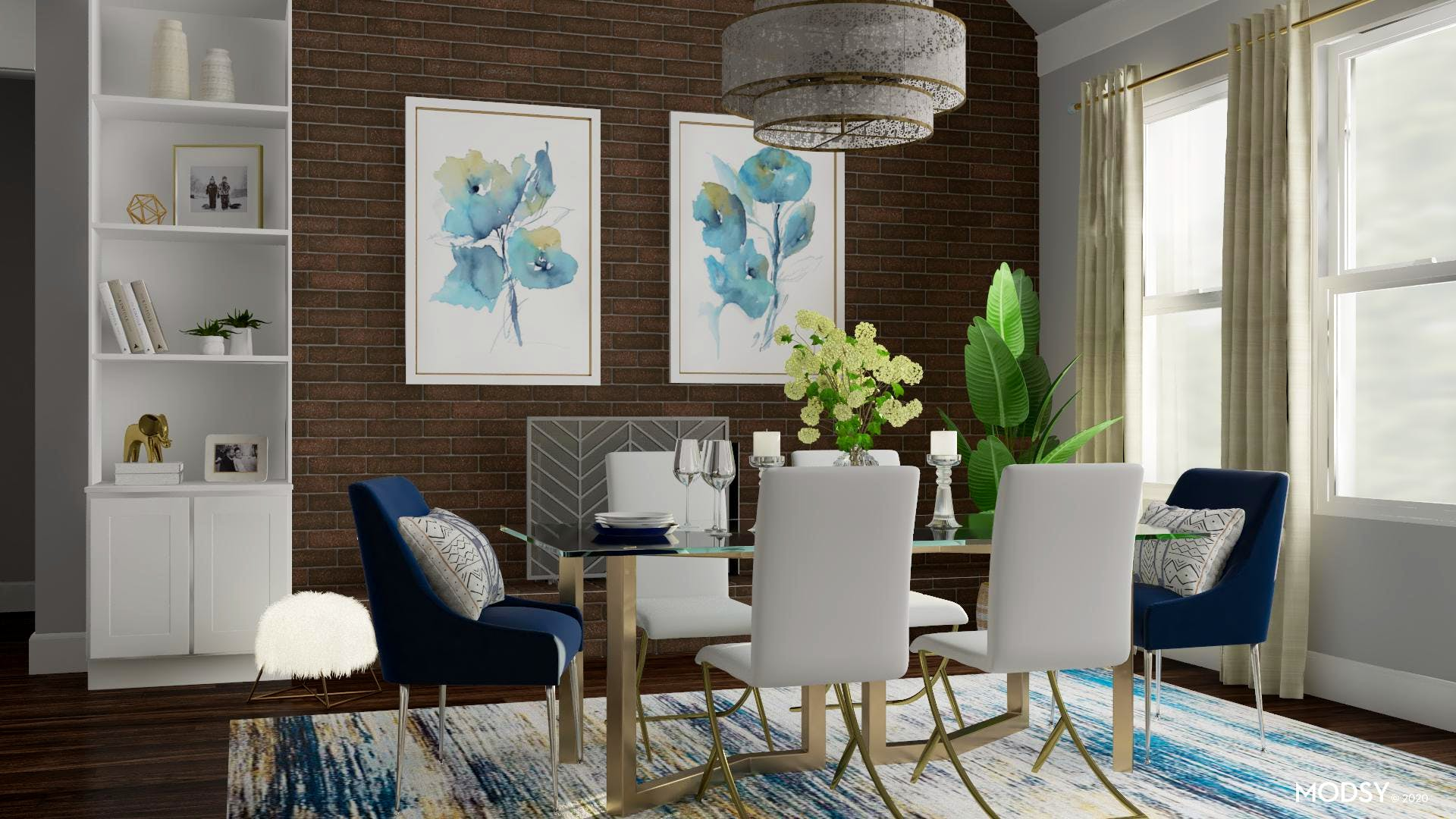 Blue Stylish Dining Room