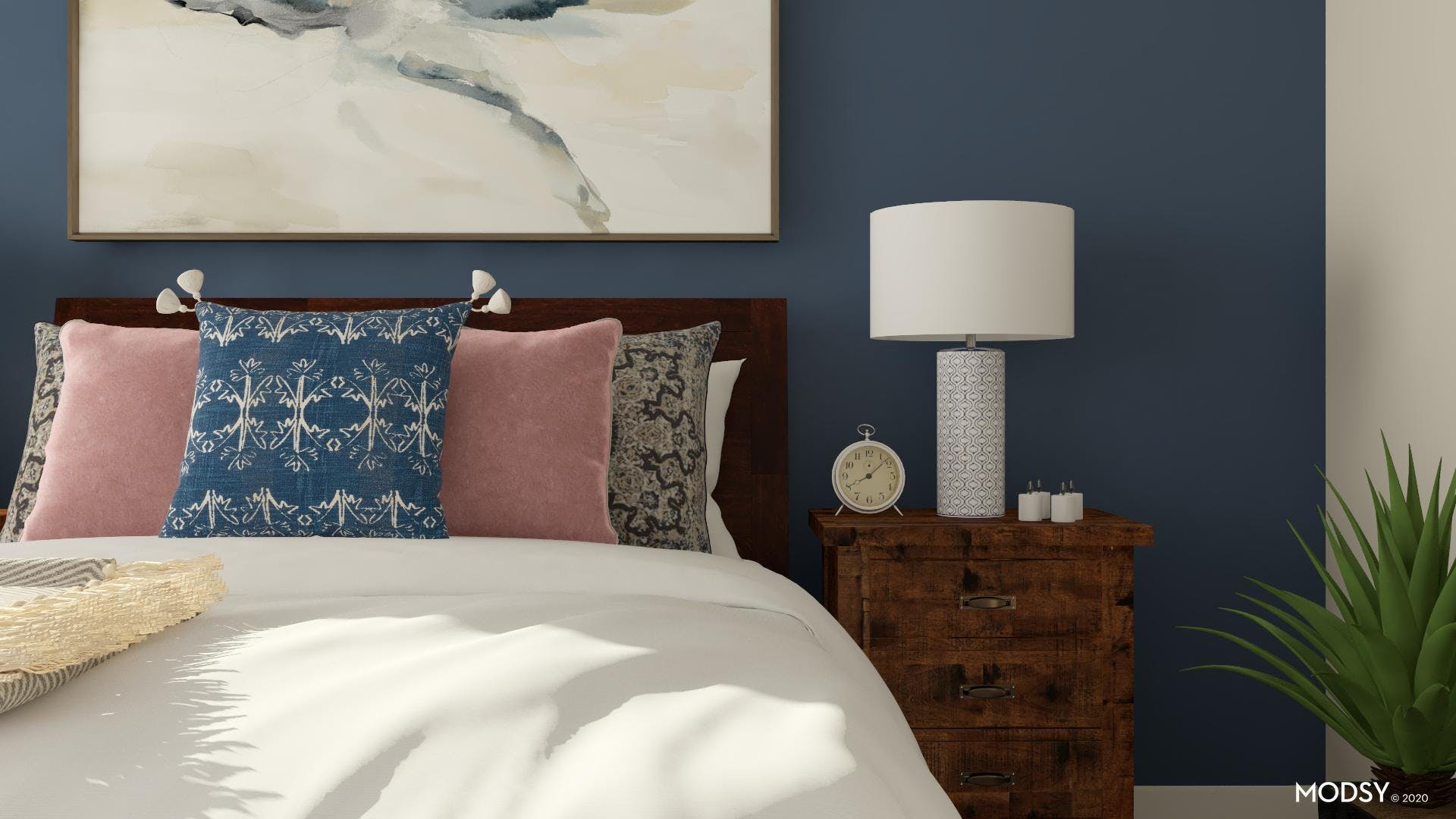 Classic Blue Traditional Bedroom
