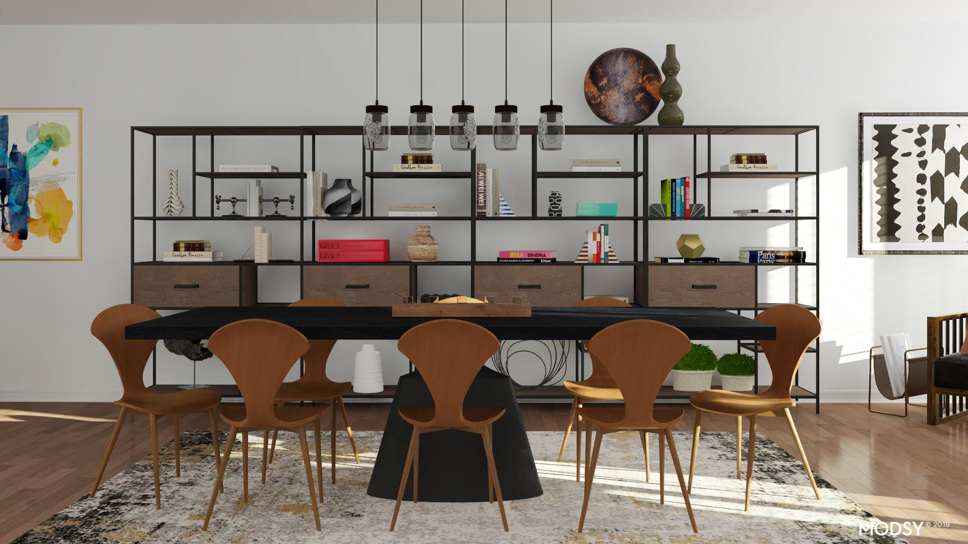 Industrial Dining Room with Charm