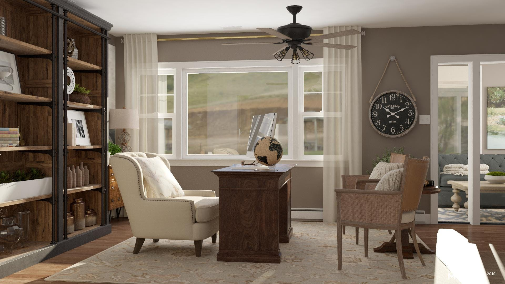 A Neutral Traditional Office Space