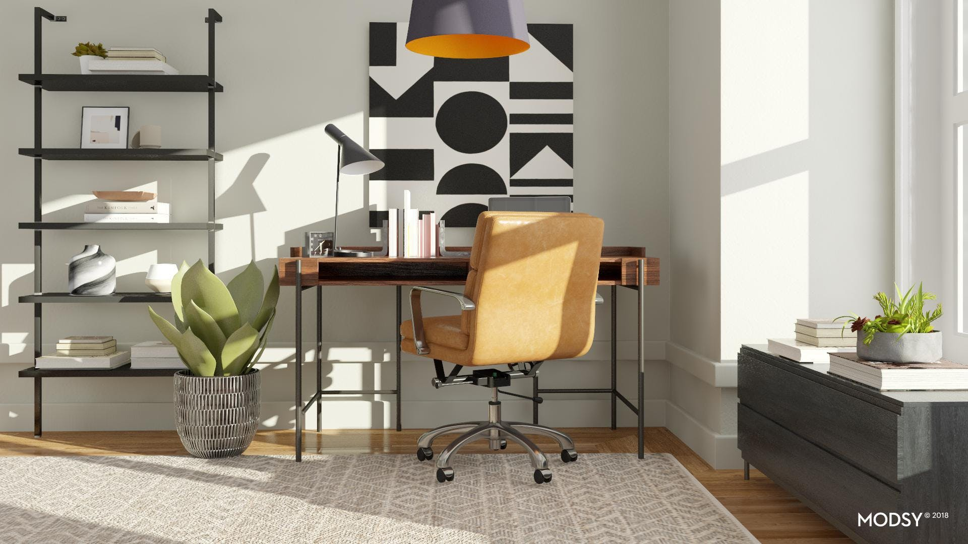 An Industrial Cool Home Office