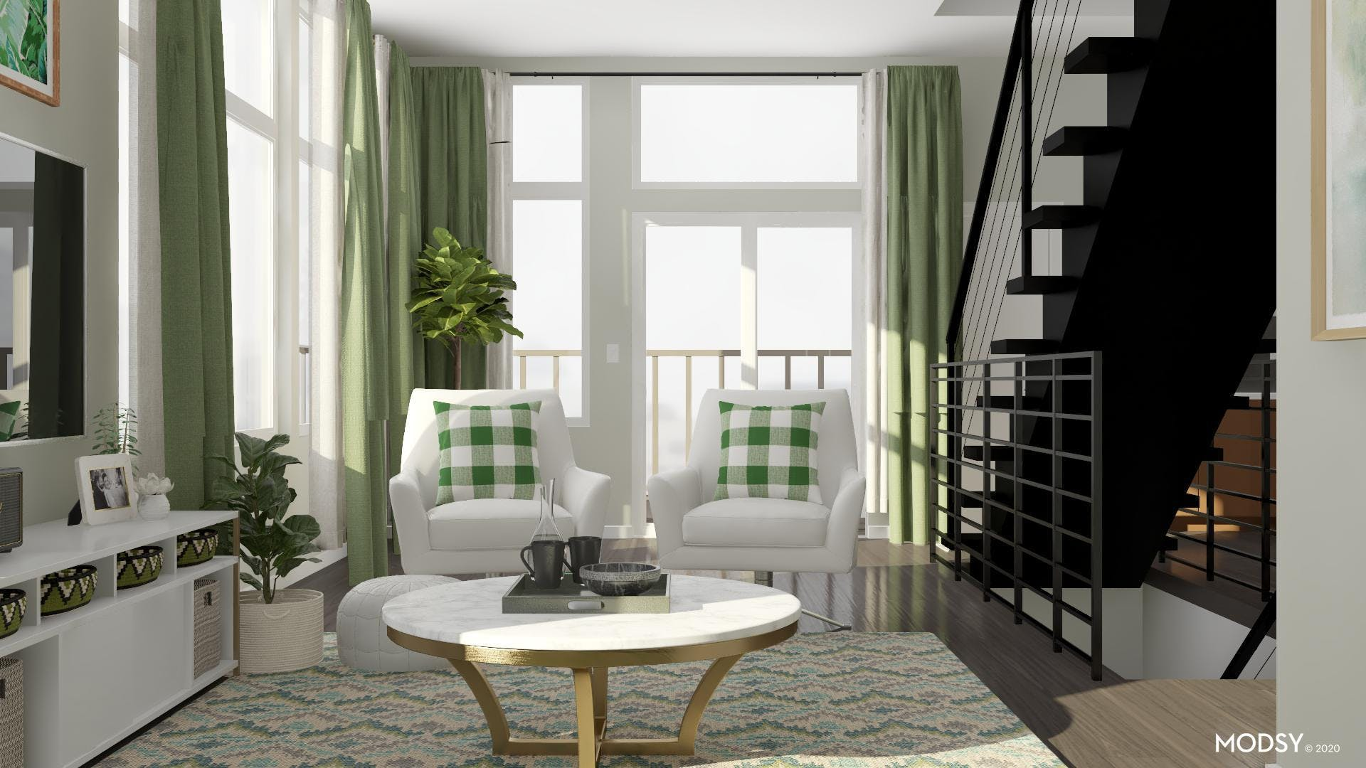 Creating Depth in a Monochromatic Living Room Space