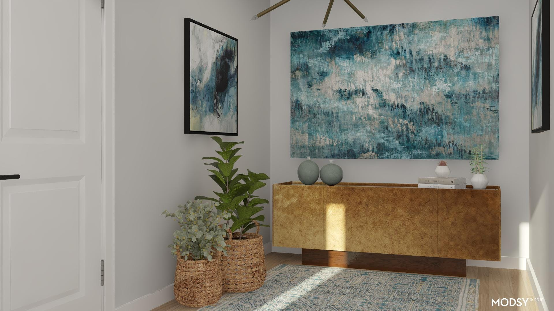 Mid-Century Style In Blue