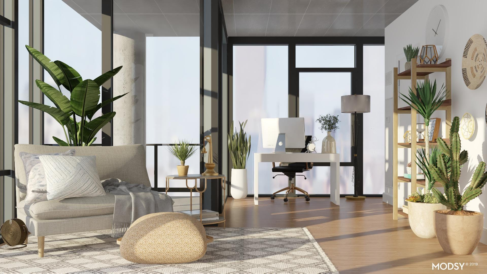 Neutral Eclectic Office