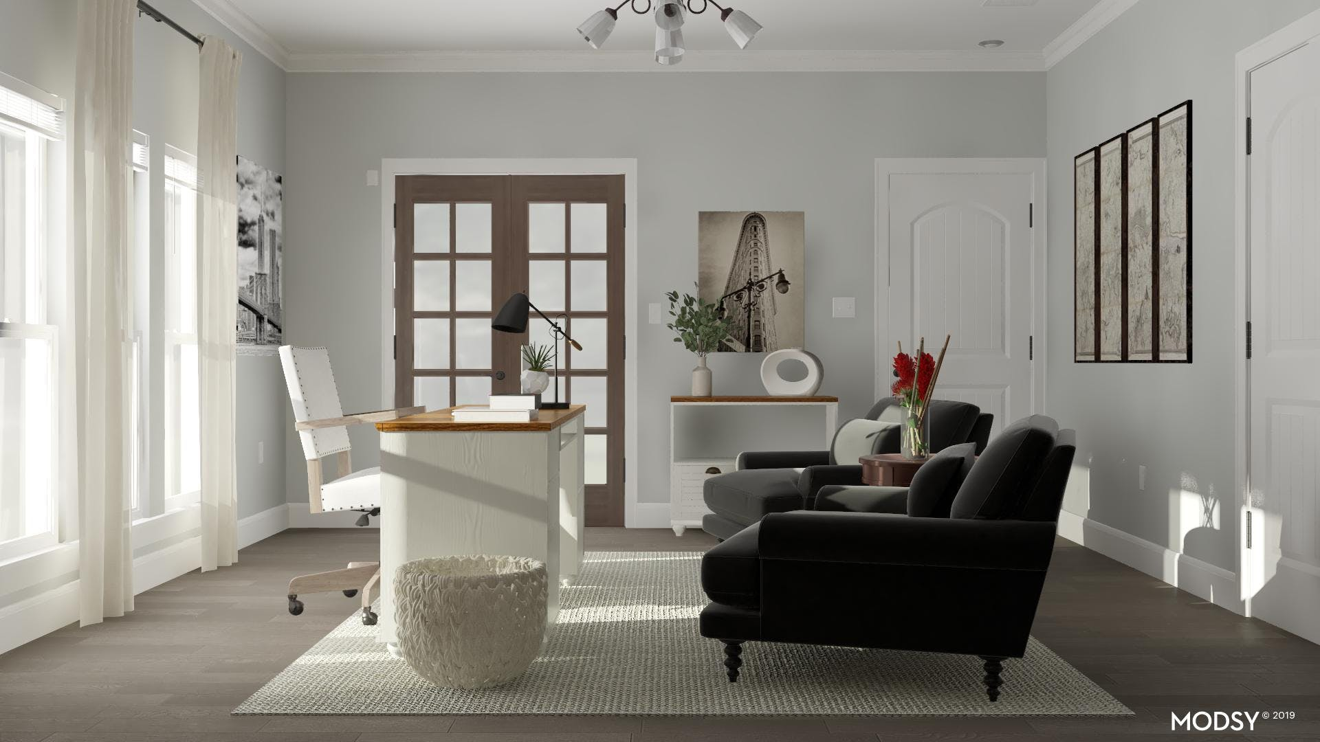 Professional Home Office: Transitional