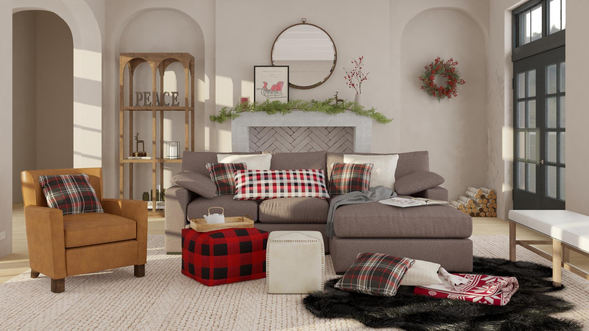 A Delightful Holiday Traditional Living Room