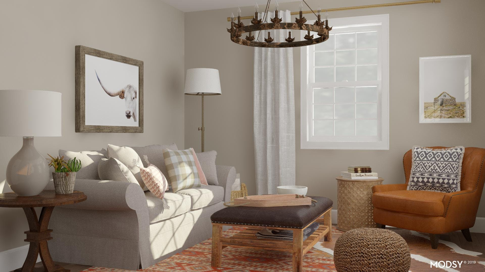 Refined Western Living Room