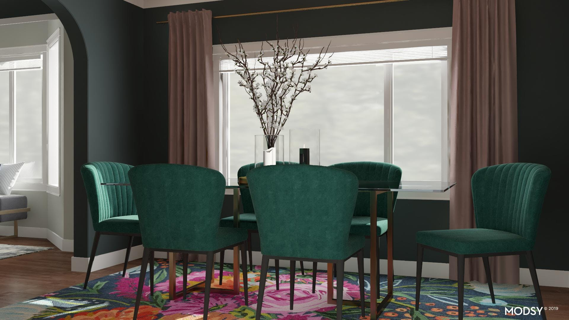 Bold And Moody Dining Room