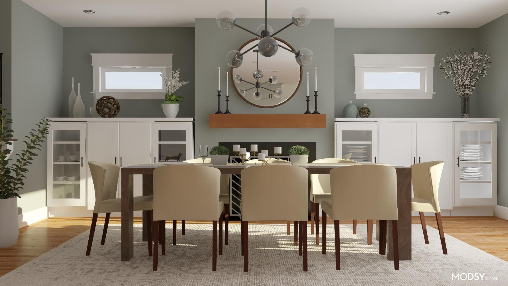 Contemporary + Neutrals For A Formal Dining